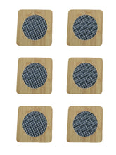 Load image into Gallery viewer, Crayton Square Mesh Pattern Bamboo Coaster/Trivet