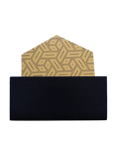 Load image into Gallery viewer, Crayton Hexagon Black and Yellow MDF Coaster