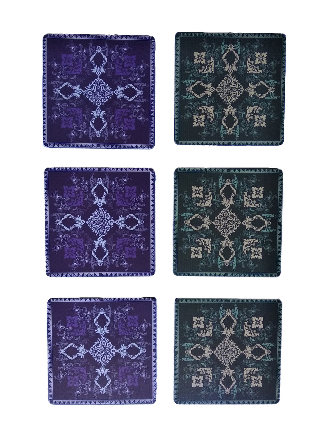 Crayton Square Purple and Green Mughal Art MDF Coaster
