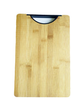 Load image into Gallery viewer, Crayton Top Handle Bamboo Wood Small Chopping Board