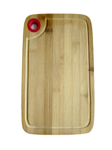 Crayton Corner Round Handle Bamboo Wood Chopping Board