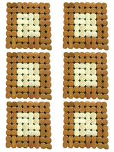 Load image into Gallery viewer, Crayton Square Brown & White Puzzle Bamboo Coaster/Trivet