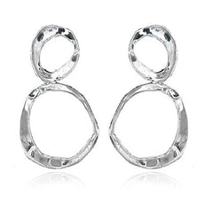 """Big Infinity"" Post Earrings - Silver"