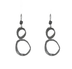 """Big Infinity"" Dangle Earrings - Silver"