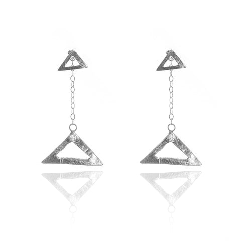 """Two in One"" ""Try-angular"" Earrings"