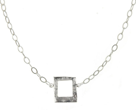 """All Squared Up"" Necklace - Silver"
