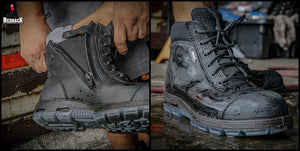 "Redback Boots Cobar Lace Up ""Safety"" Black USCBZS"