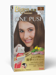 Bigen One Push 3 - Light Brown