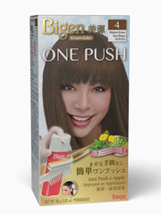 Bigen One Push 4 - Medium Brown