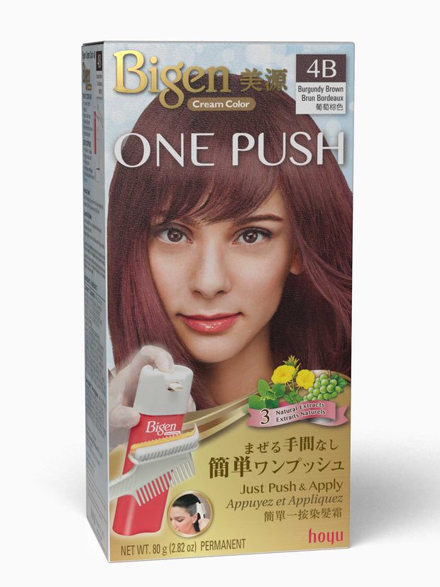 Bigen One Push 4B - Burgundy Brown