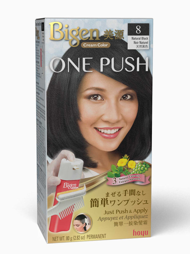 Bigen One Push 8 - Natural Black