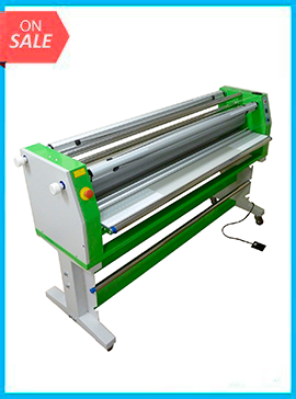 65in Master MVT-600 cold laminator w/electric press control