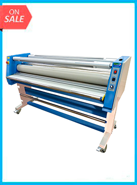 65in Master VT-9800 ROLL TO ROLL cold laminator w/Rewind