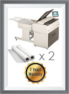 "Kip 7170 Black & White Multifunction System 63"" with Scanner + 2 Roll 2K mt + 2 Years Warranty"