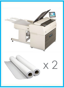 "Kip 7170 Black & White Multifunction System 63"" with Scanner + 2 Roll 2K mt"