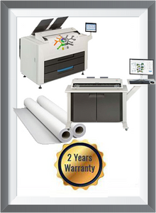KIP 860 + KIP 720 Scanner + 1 Roll 25k sq ft + 2 Years Warranty
