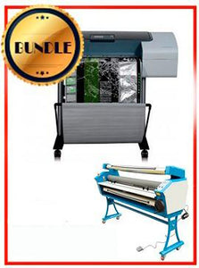 "BUNDLE - Plotter HP T1100 24¨ Recertified (90 Days Warranty) + 55"" Full-Auto Low Temp. Cold Laminator, With Heat Assisted"