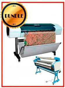 "BUNDLE - Plotter HP T1120 44¨ Recertified (90 Days Warranty) + 55"" Full-Auto Low Temp. Cold Laminator, With Heat Assisted"