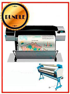 "BUNDLE - Plotter HP T1300PS 44¨ Recertified (90 Days Warranty) + 55"" Full-Auto Low Temp. Cold Laminator, With Heat Assisted"
