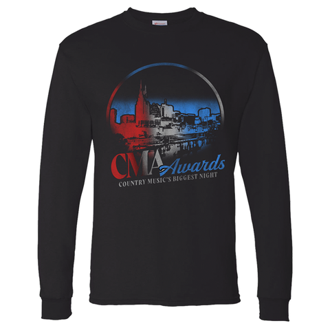 2019 CMA Awards Black Skyline Long Sleeve
