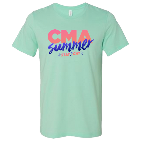 Summer Stay-Cay Logo Tee