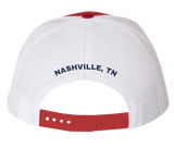 Red/White Patch Hat