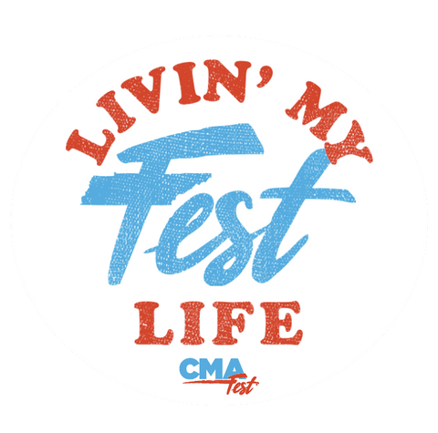 [STAFF] Livin' My Fest Life Sticker
