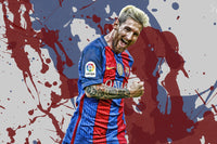 Lionel Messi -  Colores De Barcelona ™ (Wood)