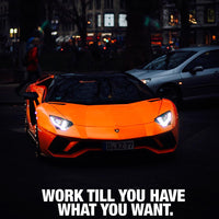 Lamborghini - Work Till You Have What You Want (Canvas)