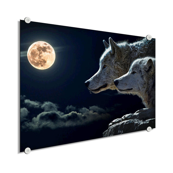Wolf - Blood Moon (Plexiglass)