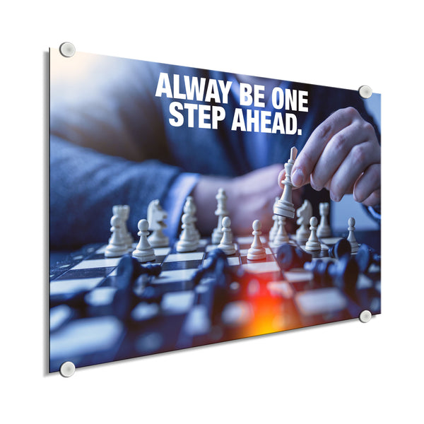 Chess - Always Be One Step Ahead (Plexiglass)