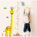 Growth Chart Children Cartoon Giraffe