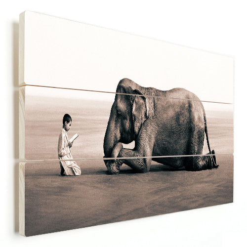 Elephant - The Sweet Giant (Wood)
