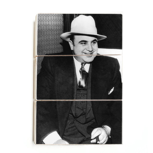 Al Capone - Gangster Smile ™ (Wood)