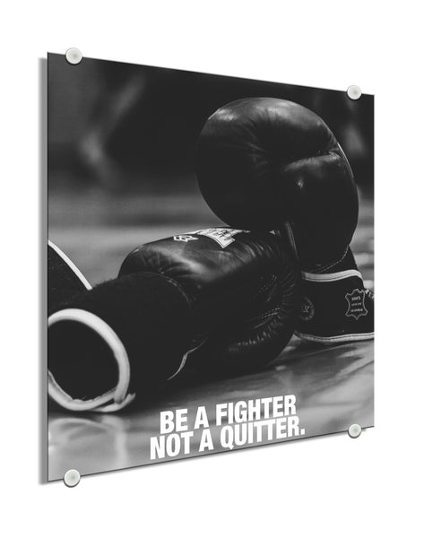 Gloves - Be A Fighter Not A Quitter (Plexiglass)