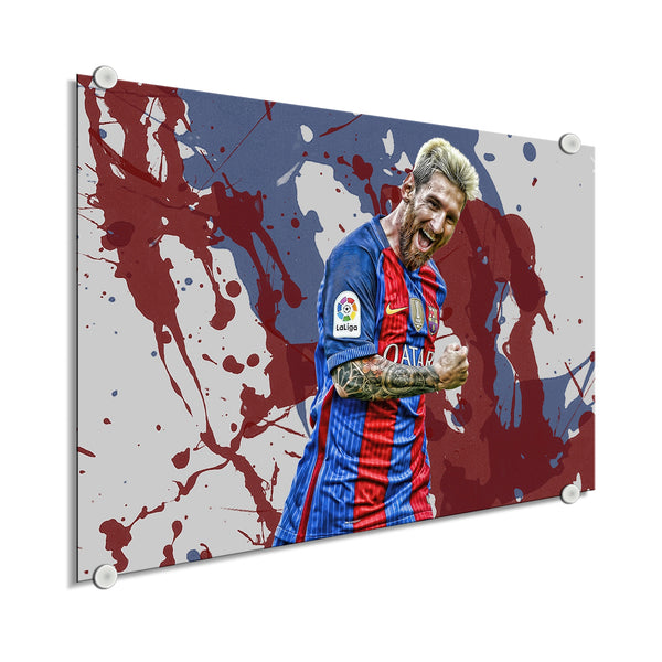 Lionel Messi -  Colores De Barcelona ™ (Plexiglass)