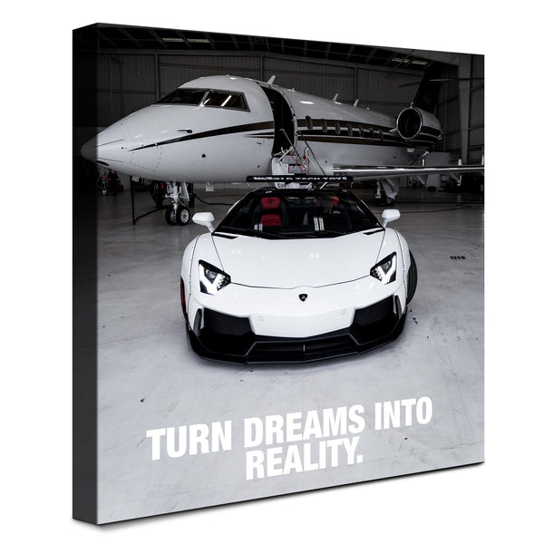 Lamborghini - Turn Dreams Into Reality (Canvas)