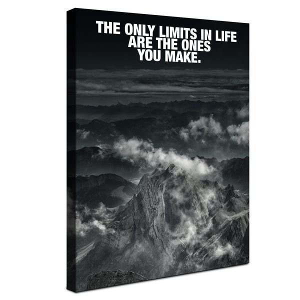 Mountain - The only limits you make (Canvas)