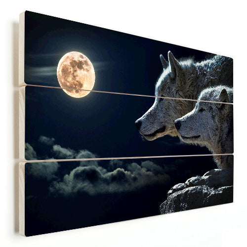 Wolf - Blood Moon (Wood)