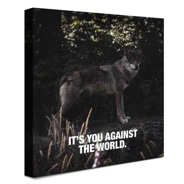 Wolf - You vs The World (Canvas)