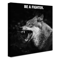Wolf - Be A Fighter (Canvas)