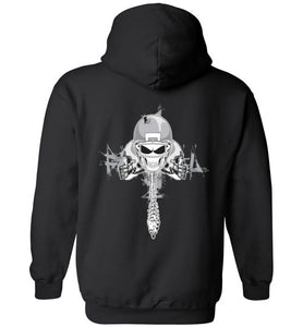 Skull Football Backbone Hoodie