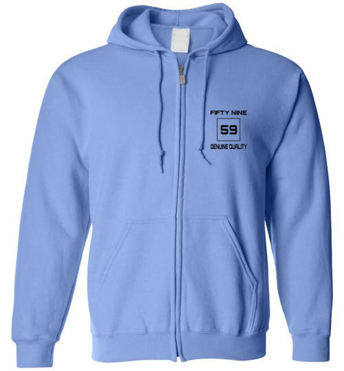 Fifty Nine Clothing Small Logo Zipped Hoodie
