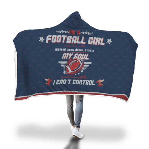 New England Themed Hooded Blanket