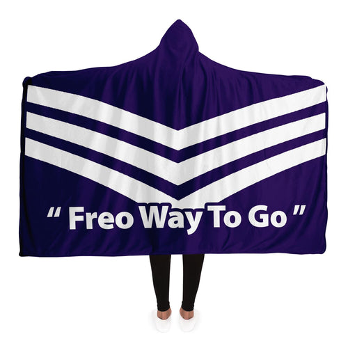Freo Dockers Inspired Hooded Blanket