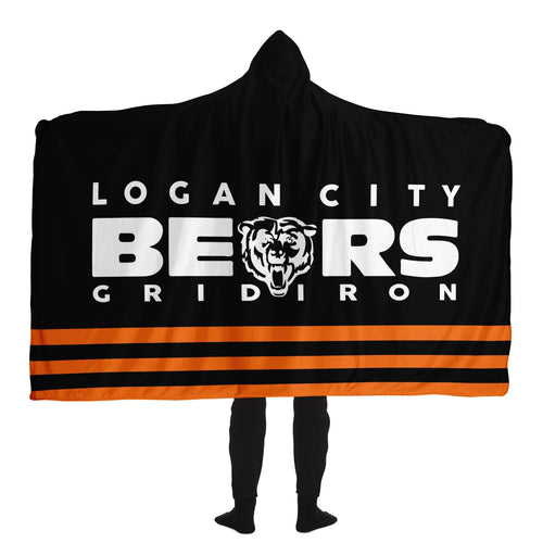Logan City Bears Hooded Blanket