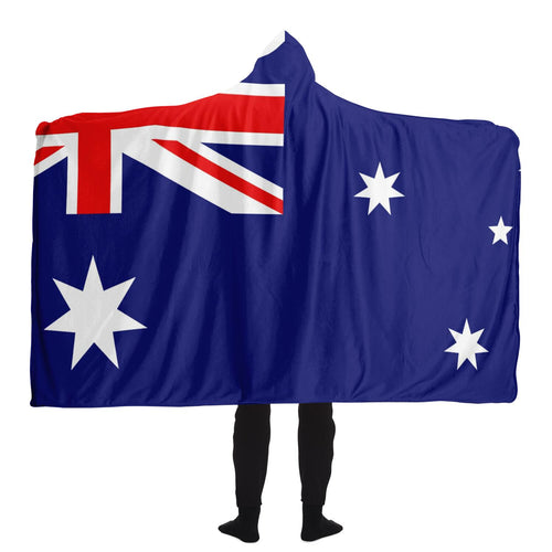 Aussie Flag Hooded Blanket