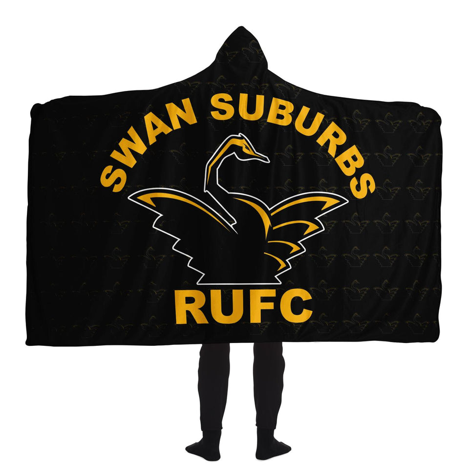 Swan Suburbs Inspired Hooded Blanket