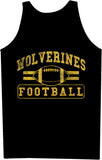 Wolverine Football Distressed Print Singlet