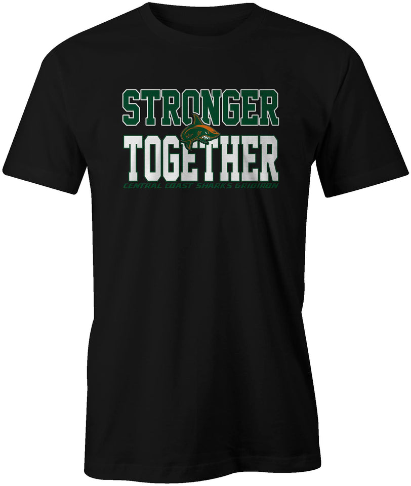 Central Coast Sharks Stronger Together Double Sided S & C T-Shirt